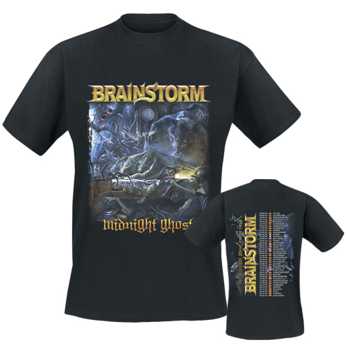 BRAINSTORM - T-Shirt - Midnight Ghost Tour 2019