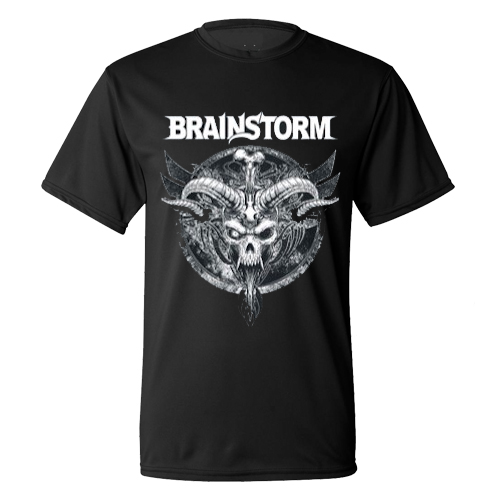 BRAINSTORM - T-Shirt - Horned Skull (black)